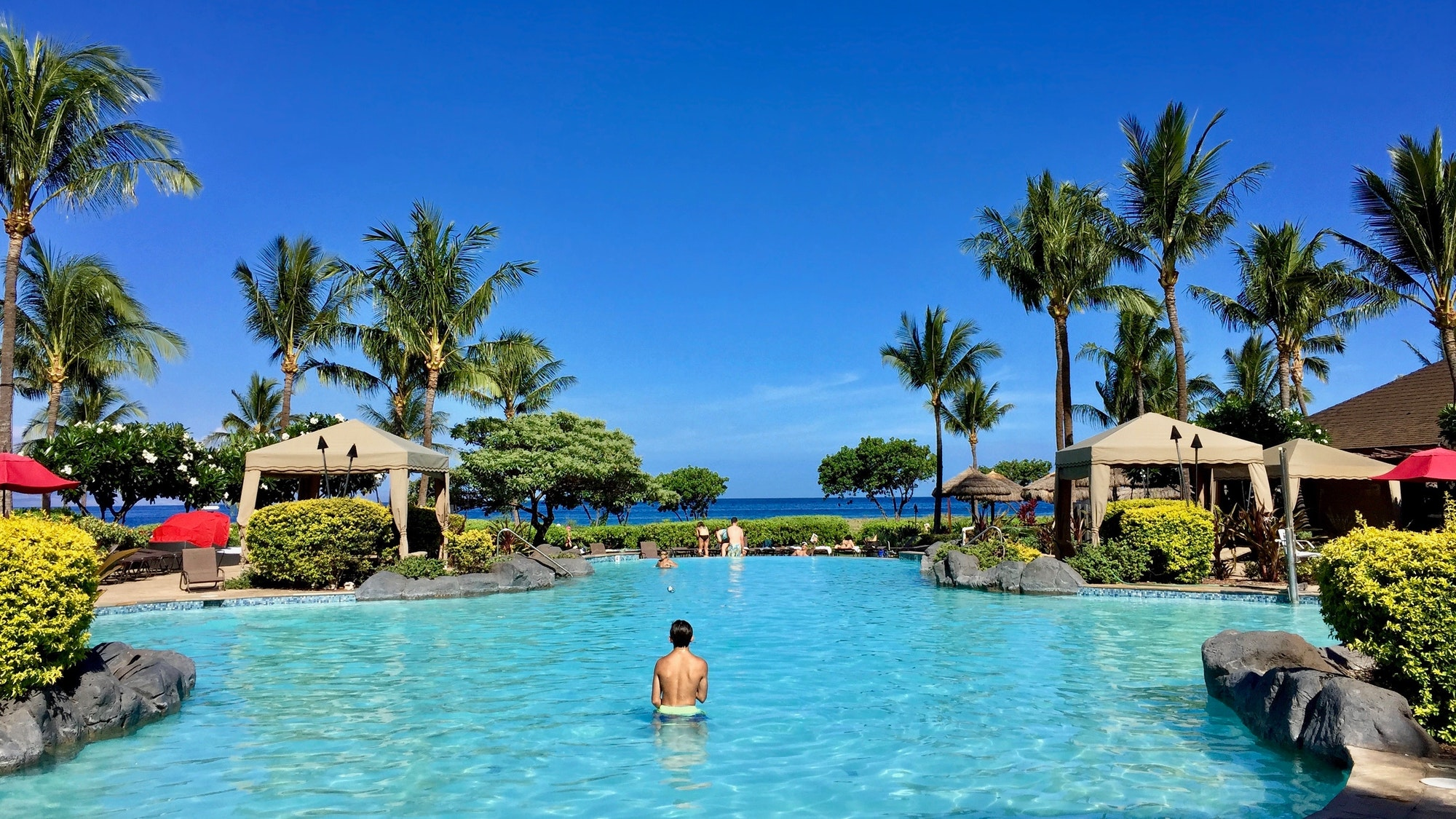 At the pool in paradise